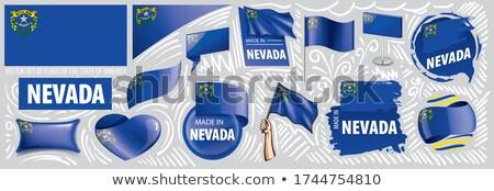 ベクトル セット フラグ アメリカン ネバダ州 異なる ストックフォト © butenkow