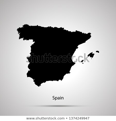 Catalonia silhouette on Spain map with flags, isolated on white Stock photo © evgeny89