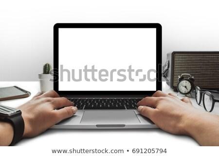 Ver estéreo alto-falantes branco cópia espaço Foto stock © magraphics