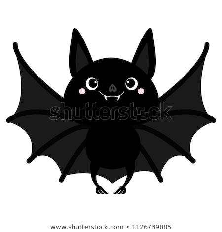 Foto stock: Halloween · desenho · animado · vetor · grupo · voador · céu · noturno