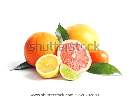 Fresco saudável mandarim citrinos branco natureza Foto stock © tish1