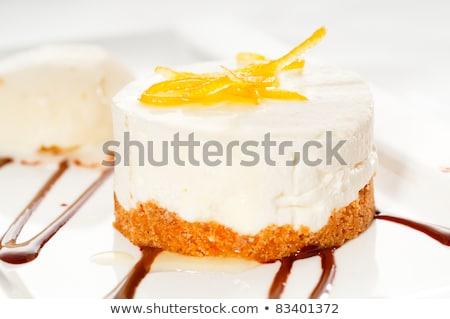lemon mousse served whith lemon peel on top Stock photo © keko64
