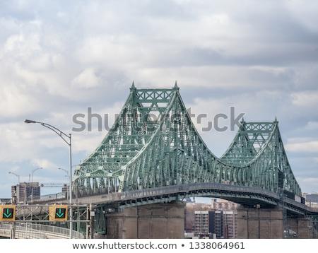 Brug rivier Montreal groene Blauw Stockfoto © aladin66