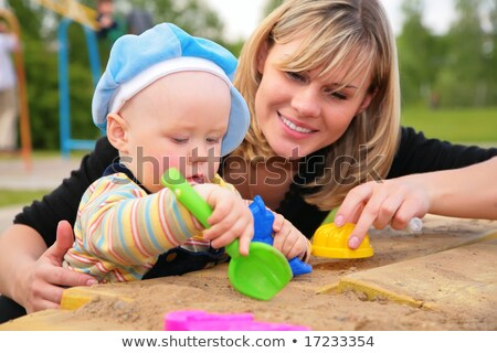 mother and child in sandbox Stock photo © Paha_L