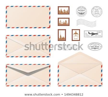 eski · zarf · kahverengi · ahşap · uzay · mektup - stok fotoğraf © inxti