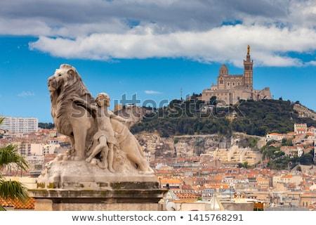 la · Marselha · noite · França · azul - foto stock © capturelight