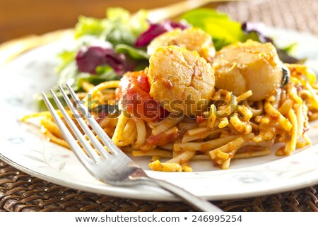 Scallops and Linguine Stock photo © fotogal