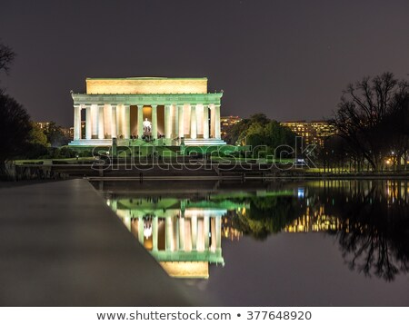 Winter Lincoln Memorial Reflecting Pool Washington DC Stock photo © Qingwa