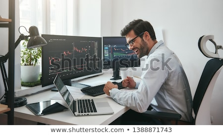 Expressive businessman with graph Stock photo © photography33