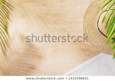 пляжное полотенце оранжевый розовый шаблон фон лет Сток-фото © dehooks