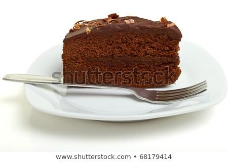 Chocolate cake perspective stock photo © TheProphet