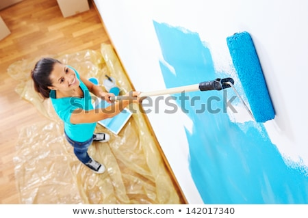 cute woman painting and decorating stock photo © photography33