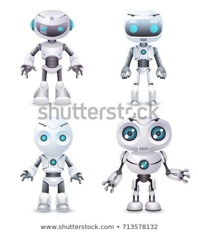 transzformátor · robot · izolált · fehér · 3d · render · fém - stock fotó © jossdiim