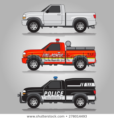 Pick-up trucks in three colors stock photo © lkeskinen
