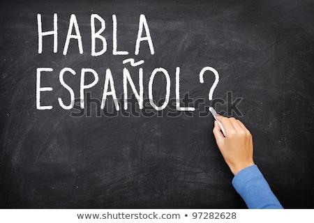 Chalkboard - Hablas Espanol Stock photo © kbuntu