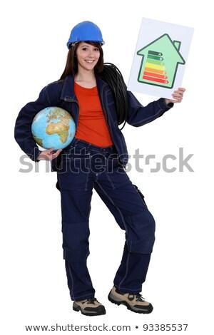 Foto stock: Electricista · mundo · tierra · futuro · planeta