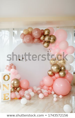 Little girl at birthday party with lots of gifts Stock photo © photography33