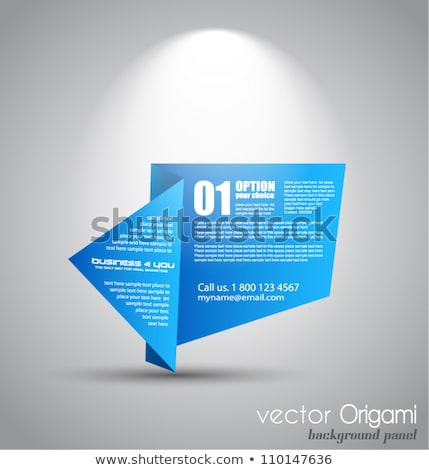 origami paper style panel with space for text stock photo © davidarts