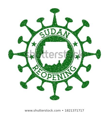 Posta Szudán kép bélyeg térkép zászló Stock fotó © perysty