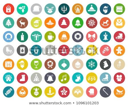 christmas snowflakes icons set stock photo © redkoala