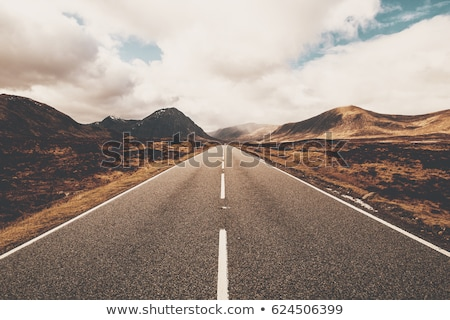 Europeu estrada estrada rural blue sky verão grama Foto stock © silent47
