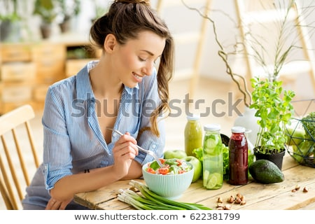 Mujer dieta frutas digital escala comer Foto stock © photography33