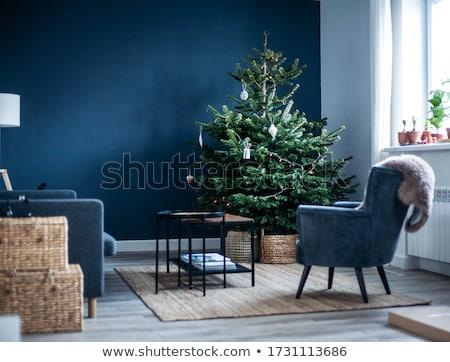 Witte kerstboom papier origami evergreen boom Stockfoto © deyangeorgiev