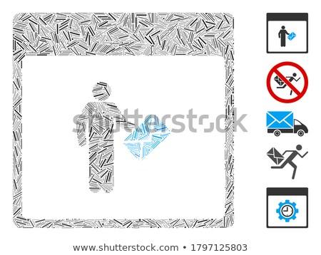 почтальон мозаика человека пейзаж окна рабочих Сток-фото © photography33