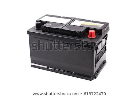 Generic black car battery isolated on white Stock photo © shutswis