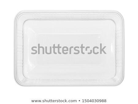 изолированный · красный · белый · пластиковых · пакет - Сток-фото © ozaiachin