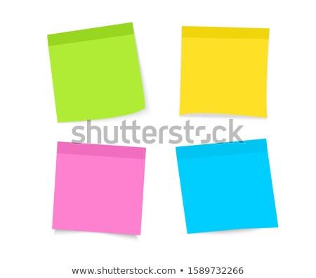 Turuncu beyaz defter ilan panosu notepad yazmak Stok fotoğraf © wavebreak_media