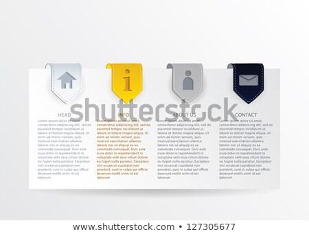 Vektor arany haladás kártya szalag egyszerű Stock fotó © vitek38