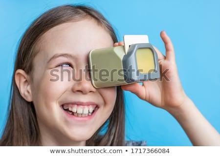 öreg projektor izolált fehér film háttér Stock fotó © jonnysek
