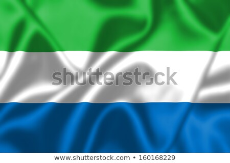 Fabric texture of the flag of Sierra Leone Stock photo © maxmitzu
