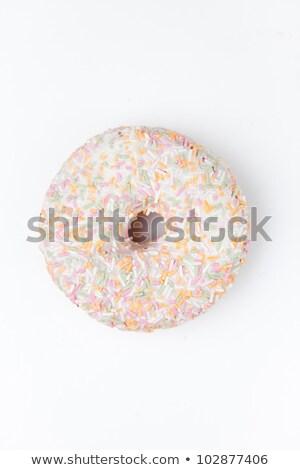 Rosquinha açúcar de confeiteiro branco fundo alimentação Foto stock © wavebreak_media