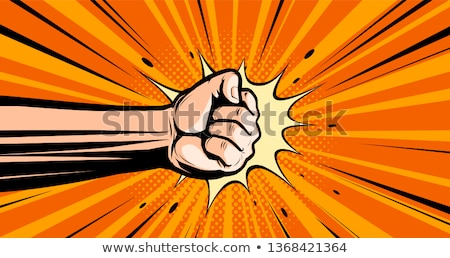 Cartoon Hand - Crushed - Vector Illustration Stock photo © indiwarm