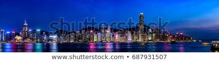prédio · comercial · oceano · noite · barco · linha · do · horizonte · cruzeiro - foto stock © billperry