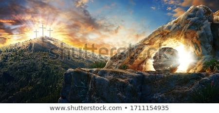 Jesus-Christ on the cross - 3D render Stock photo © Elenarts