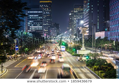 Night in the Heart of Downtown Stock photo © eldadcarin