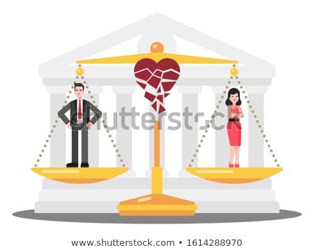 Per bíróság nő törött nyak akta Stock fotó © cteconsulting