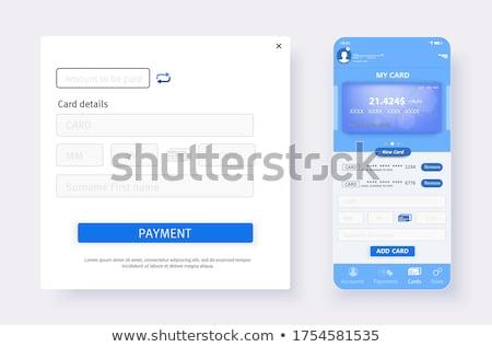 Pago forma hasta consumidores clientes papel Foto stock © ferdie2551