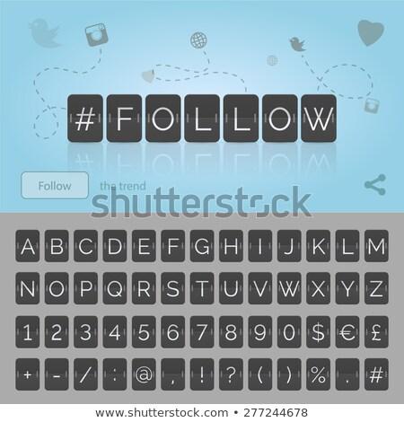 Közösségi média ábécé fehér szófelhő oktatás kiadvány Stock fotó © tashatuvango