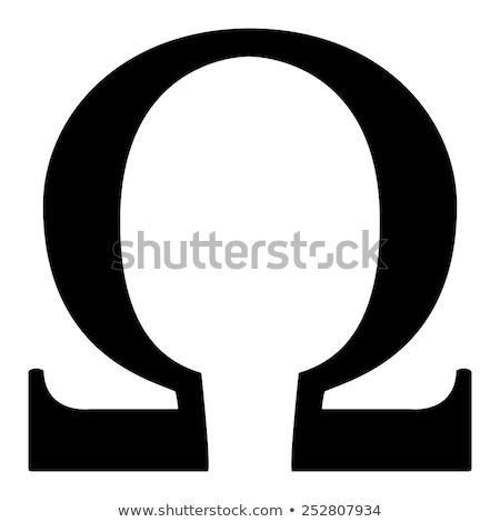 omega symbol stock photo © shawlinmohd