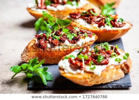 Tomaat bruschetta voorgerechten achtergrond Stockfoto © TeamC