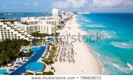 Канкун Мексика слово воды пляж пальмами Сток-фото © kbuntu