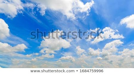 nuvens · dramático · blue · sky · nublado · marinha · abstrato - foto stock © lunamarina