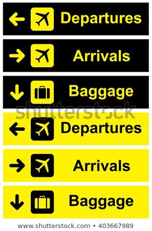 空港 · にログイン · 青 · 旅行 · 平面 · 休暇 - ストックフォト © zzve
