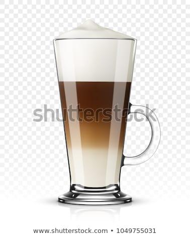 latte macchiato with coffee beans Stock photo © Rob_Stark