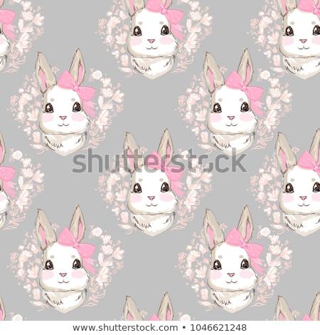 бесшовный Cartoon смешные заяц дизайна счастливым Сток-фото © Elmiko