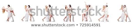 Pár táncosok izolált fehér nő zene Stock fotó © Elnur